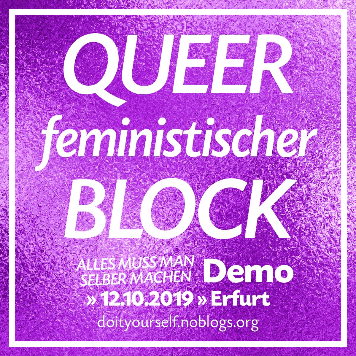 Kommt zum queer-feministischen Block!